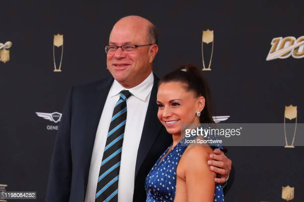 Carolina Panthers owner David Tepper poses on the Red Carpet prior to the NFL Honors on February 1, 2020 at the Adrienne Arsht Center in Miami, FL.