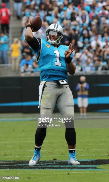 Carolina Panthers quarterback Cam Newton during 1st half of the Carolina Panthers versus the Atlanta Falcons on November 5 at Bank of America Stadium...