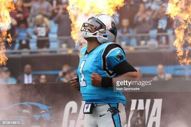 Carolina Panthers quarterback Cam Newton during beginning of the Carolina Panthers versus the Atlanta Falcons on November 5 at Bank of America...