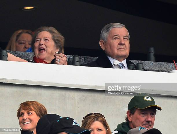 Carolina Panthers team owner Jerry Richardson right sits in the owner's box at Bank of America Stadium on Sunday Dec 17 2017 prior to the team's game...