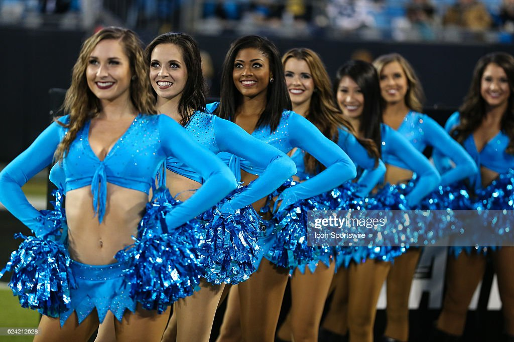 Wholesale Carolina Panthers Topcats cheerleaders during the game between the