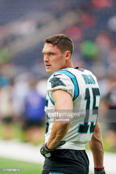 Carolina Panthers wide receiver Chris Hogan looks on before the football game between the Carolina Panthers and Houston Texans at NRG Stadium on...