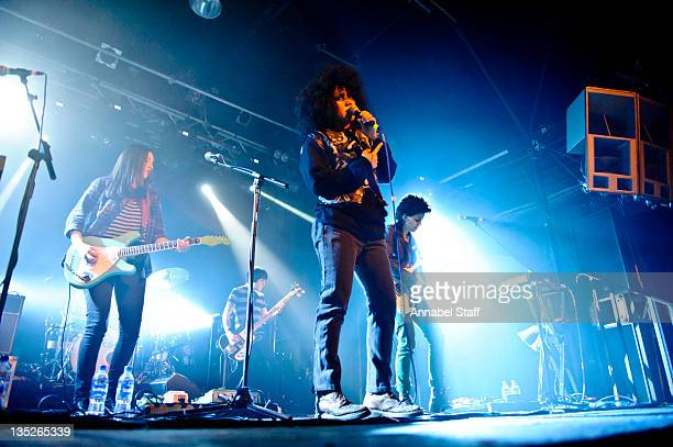 Carolina Parra Lovefoxx and Ana Rezende of CSS perform on stage at Heaven on December 7 2011 in London United Kingdom