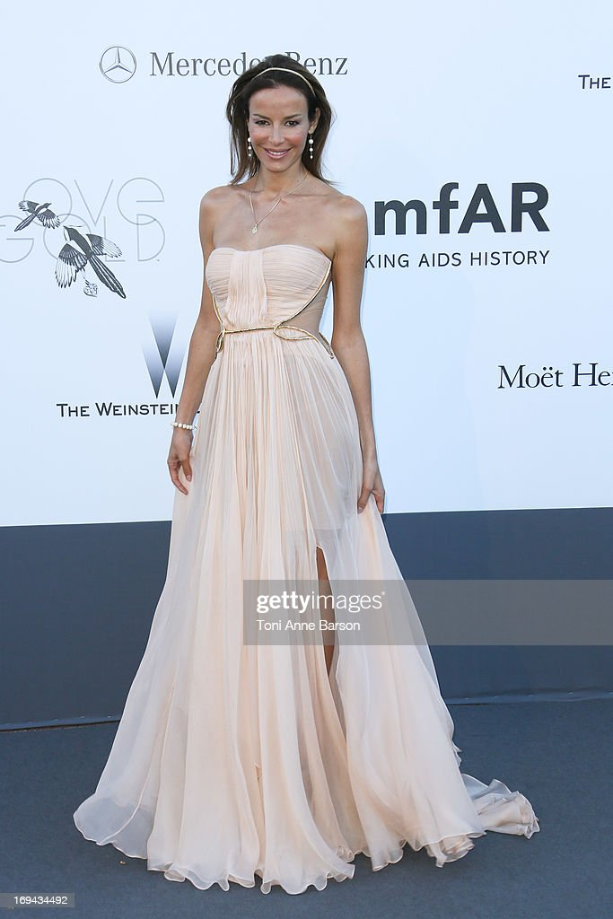 Carolina Parsons arrives at amfAR's 20th Annual Cinema Against AIDS at Hotel du Cap-Eden-Roc on May 23, 2013 in Cap d'Antibes, France.