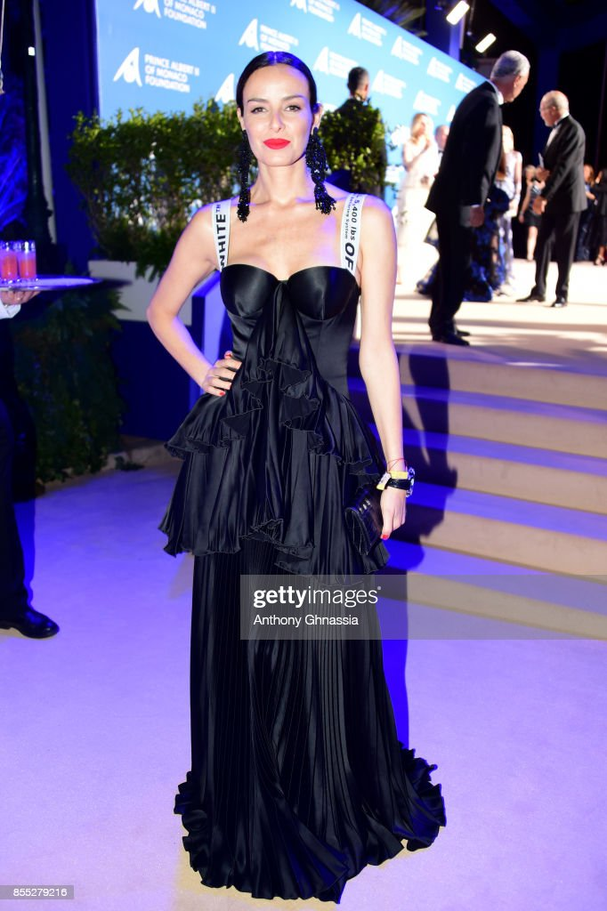 Carolina Parsons attends the cocktail for the inaugural 'Monte-Carlo Gala for the Global Ocean' honoring Leonardo DiCaprio at the Monaco Garnier Opera on September 28, 2017 in Monaco, Monaco.