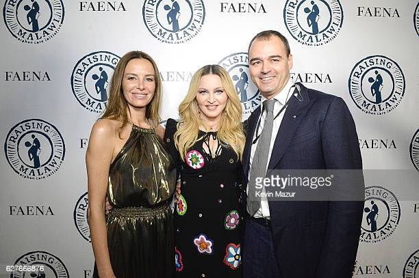 Carolina Parsons Madonna Milutin Gatsby attend Madonna presents An Evening of Music Art Mischief and Performance to Benefit Raising Malawi at Faena...