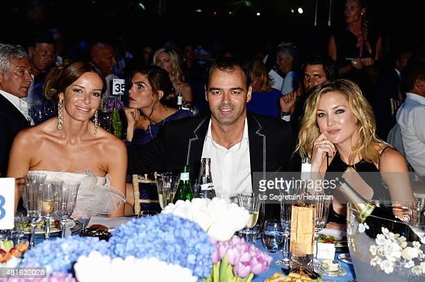 Carolina Parsons Milutin Gatsby and Kate HudsonThe Leonardo DiCaprio Foundation 2nd Annual SaintTropez Gala at Domaine Bertaud Belieu on July 22 2015...