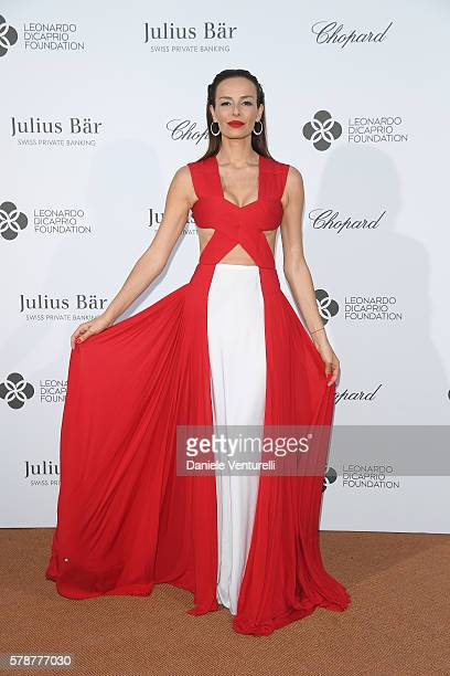 Carolina Parsons poses at the photocall during The Leonardo DiCaprio Foundation 3rd Annual SaintTropez Gala at Domaine Bertaud Belieu on July 20 2016...