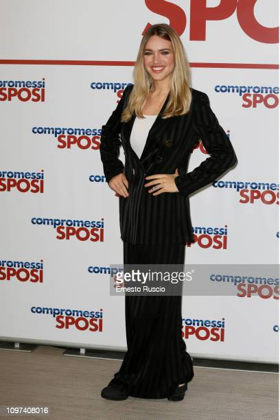 Carolina Rey attends 'Compromessi Sposi' photocall at Le Meridien Visconti Hotel on January 21 2019 in Rome Italy
