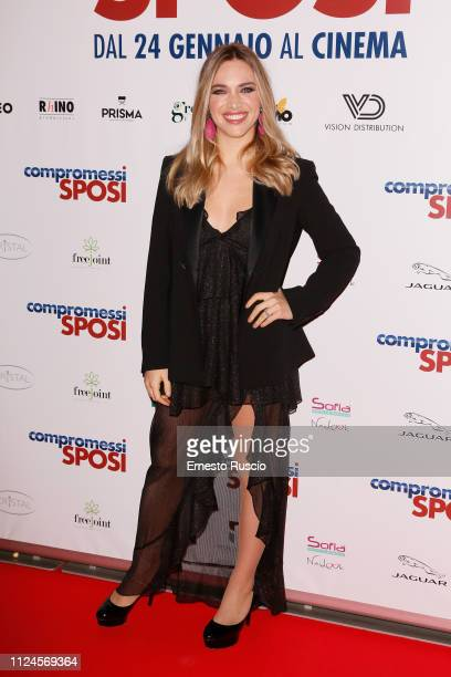 Carolina Rey attends Compromessi Sposi photocall on January 24 2019 in Rome Italy