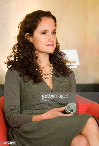Carolina Rivera attends to the presentation of the tv serie Lucho en Familia at the Camino Real Hotel on March 23 2011 in Tlalnepantla Mexico