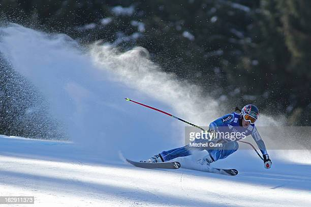 Carolina RuizCastillo of Spain races down the course competing in the Audi FIS Ski World Cup Women's SuperG on March 01 2013 in Garmisch...