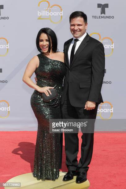 Carolina Sandoval and guest attend the 2018 Billboard Latin Music Awards at the Mandalay Bay Events Center on April 26, 2018 in Las Vegas, Nevada.