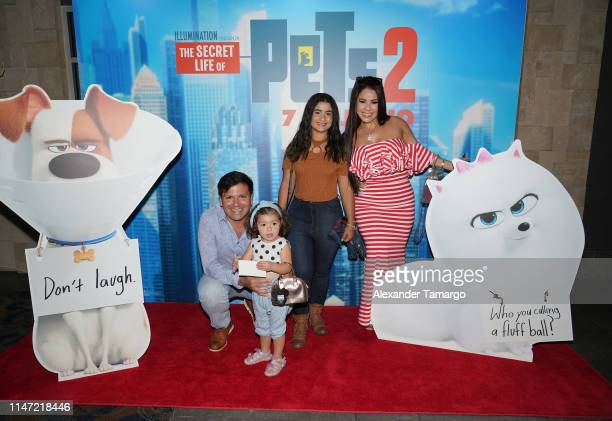 Carolina Sandoval and her family attend the Telemundo Symphony Screening For The Secret Life Of Pets 2 at CineBistro Doral on June 1 2019 in Miami...