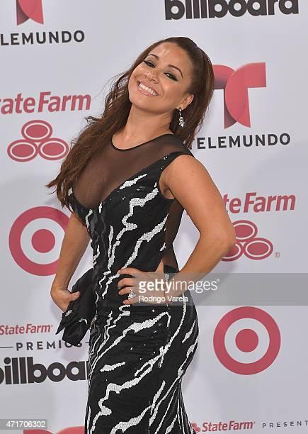 Carolina Sandoval arrives at 2015 Billboard Latin Music Awards presented bu State Farm on Telemundo at Bank United Center on April 30 2015 in Miami...
