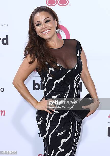 Carolina Sandoval arrives at 2015 Billboard Latin Music Awards presented by State Farm on Telemundo at Bank United Center on April 30 2015 in Miami...