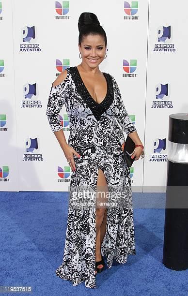Carolina Sandoval arrives at Univisions 8th Annual Premios Juventud Awards at Bank United Center on July 21 2011 in Miami Florida