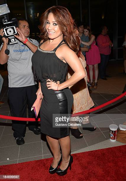 Carolina Sandoval arrives for the premiere of The Snitch Cartel at Regal South Beach on October 14 2013 in Miami Florida