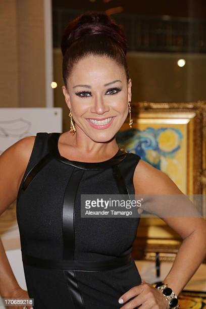 Carolina Sandoval attends ING Celebrity Domino Night to benefit Amigos For Kids at Jungle Island on June 15 2013 in Miami Florida