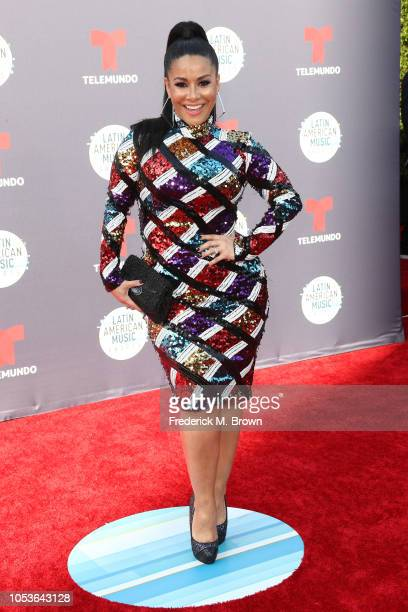 Carolina Sandoval attends the 2018 Latin American Music Awards at Dolby Theatre on October 25 2018 in Hollywood California