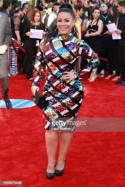 Carolina Sandoval attends the 2018 Latin American Music Awards Arrivals at Dolby Theatre on October 25 2018 in Hollywood California