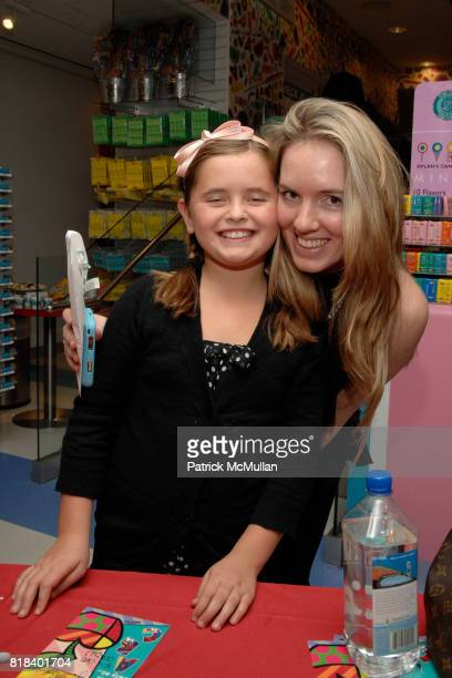 Carolina Schreiber and Katherine Davis attend Candy Lover Dylan's Candy Bar hosts VIP opening event for Romero Britto at Dylan's Candy Bar on...