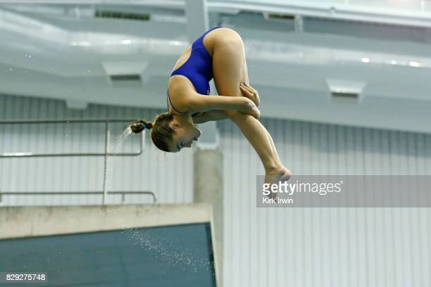 Carolina Sculti of the Marlins Dive Club competes during the Senior Women's 3m Springboard Preliminary during the 2017 USA Diving Summer National...
