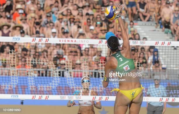 Carolina Solberg Salgado of Brazil competing during womens final match between Barbora Hermannova of Czech Republic and Marketa Slukova of Czech...