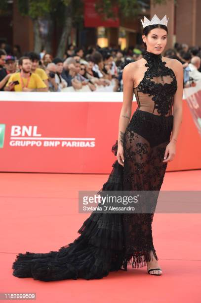 Carolina Stramare attends the red carpet during the 14th Rome Film Festival on October 22, 2019 in Rome, Italy.