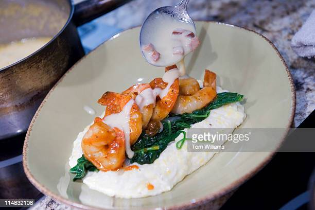 Carolina Style Barbequed Shrimp with grits are on the menu at Watershed restaurant on 1st Street NE