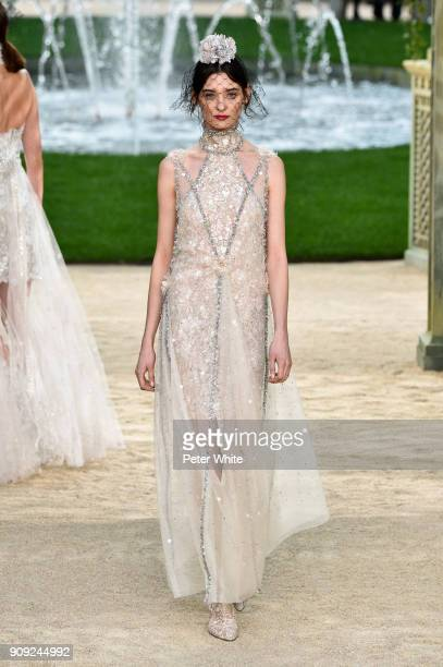 Carolina Thaler walks the runway during the Chanel Spring Summer 2018 show as part of Paris Fashion Week on January 23 2018 in Paris France
