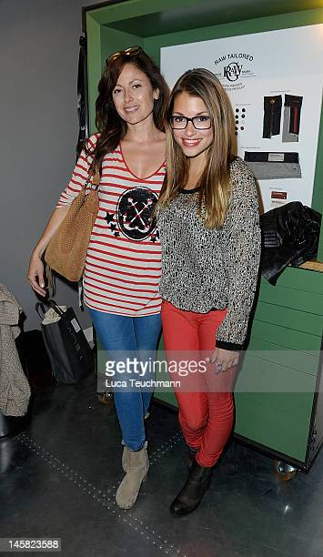 Carolina Vera and Anna Julia Kapfelsperger attend the GStar RAW Tailored Event at 14 oz on June 6 2012 in Berlin Germany