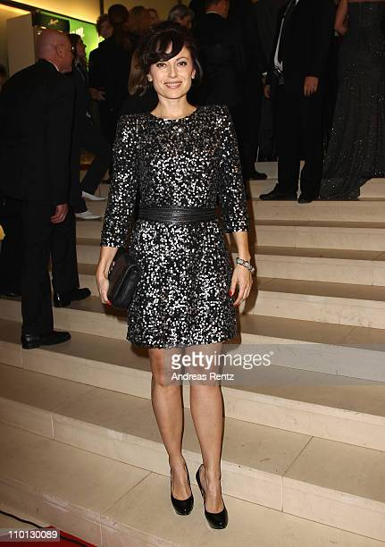 Carolina Vera attends the 'Deutscher Hoerfilmpreis 2011' at the Atrium Deutsche Bank on March 15 2011 in Berlin Germany