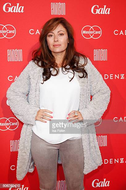 Carolina Vera attends the 'Gala' fashion brunch during the MercedesBenz Fashion Week Berlin Autumn/Winter 2016 at Ellington Hotel on January 22 2016...