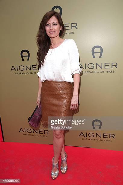Carolina Vera during the 50th Anniversary of AIGNER on April 16 2015 in Munich Germany