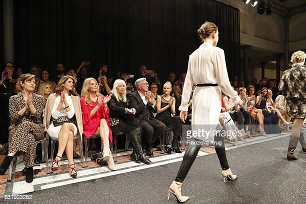 Carolina Vera Mareile Hoeppner Frauke Ludowig Ute Schlotterer Helmut Schlotterer and Kate Bosworth attend the Marc Cain fashion show A/W 2017 at...
