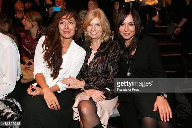 Carolina Vera Sabine Postel and Simone Thomalla attend the Minx by Eva Lutz show during the MercedesBenz Fashion Week Berlin Autumn/Winter 2015/16 at...