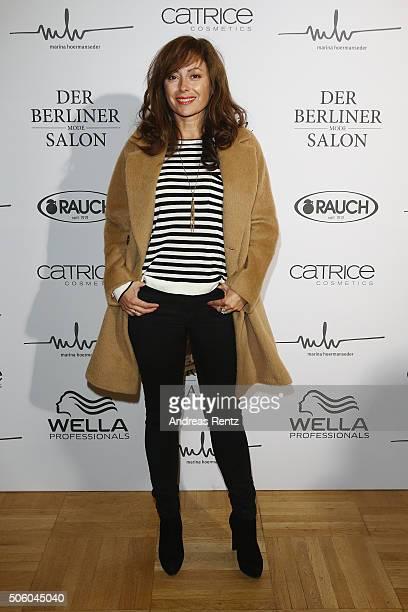 Carolina Vera Squella attends the Marina Hoermanseder show as part of Der Berliner Mode Salon during the MercedesBenz Fashion Week Berlin...
