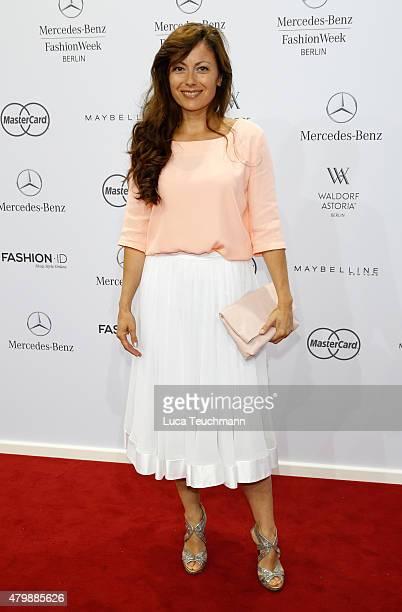 Carolina Vera Squella attends the Minx by Eva Lutz show during the MercedesBenz Fashion Week Berlin Spring/Summer 2016 at Brandenburg Gate on July 8...