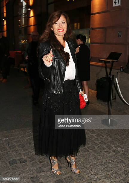 Carolina Vera Squella sighted arriving to Mercedes Benz Vogue Fashion Night at Borchardt's Restaurant on July 10 2015 in Berlin Germany