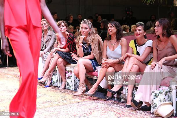 Carolina Vera Victoria Swarovski Jana Pallaske Aylin Tezel and Lena MeyerLandrut during the Marc Cain fashion show spring/summer 2017 at CITY CUBE...