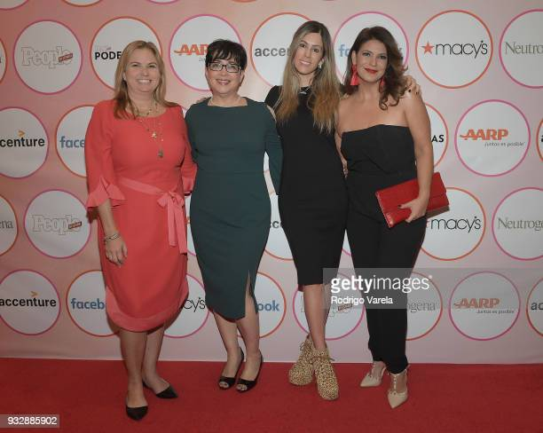Carolina Z Cardoso Camila Casale Nellie Borrerro and Gloria Garces arrive at the People en Espanol's 25 Most Powerful Women Luncheon 2018 on March 16...