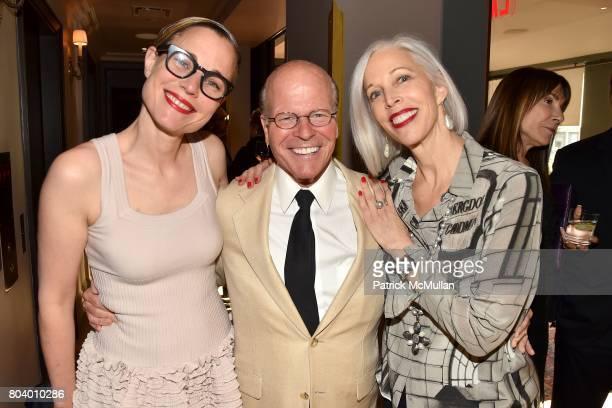 Carolina Zapf James D Dunning Jr and Linda Fargo attend James D Dunning Jr's Birthday at The NoMad Hotel on June 7 2017 in New York City