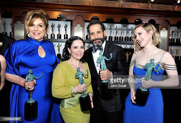 Caroline Aaron Alex Borstein Rachel Brosnahan and Tony Shalhoub Winners of Outstanding Performance by an Ensemble in a Comedy Series for 'The...