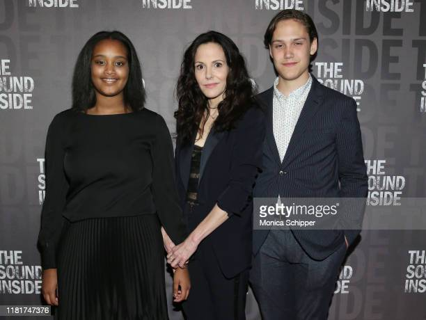 Caroline Aberash Parker MaryLouise Parker and William Atticus Parker attend The Sound Inside opening night at Studio 54 on October 17 2019 in New...