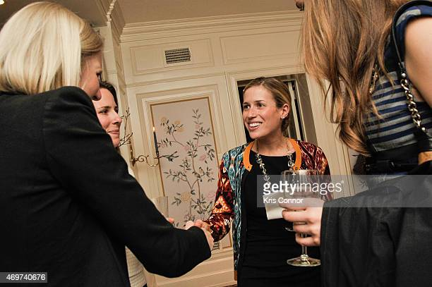 Caroline Adler attends a reception to honor Giovanna Gray Lockhart the new Glamour Washington DC Editor at a private residence on April 14 2015 in...