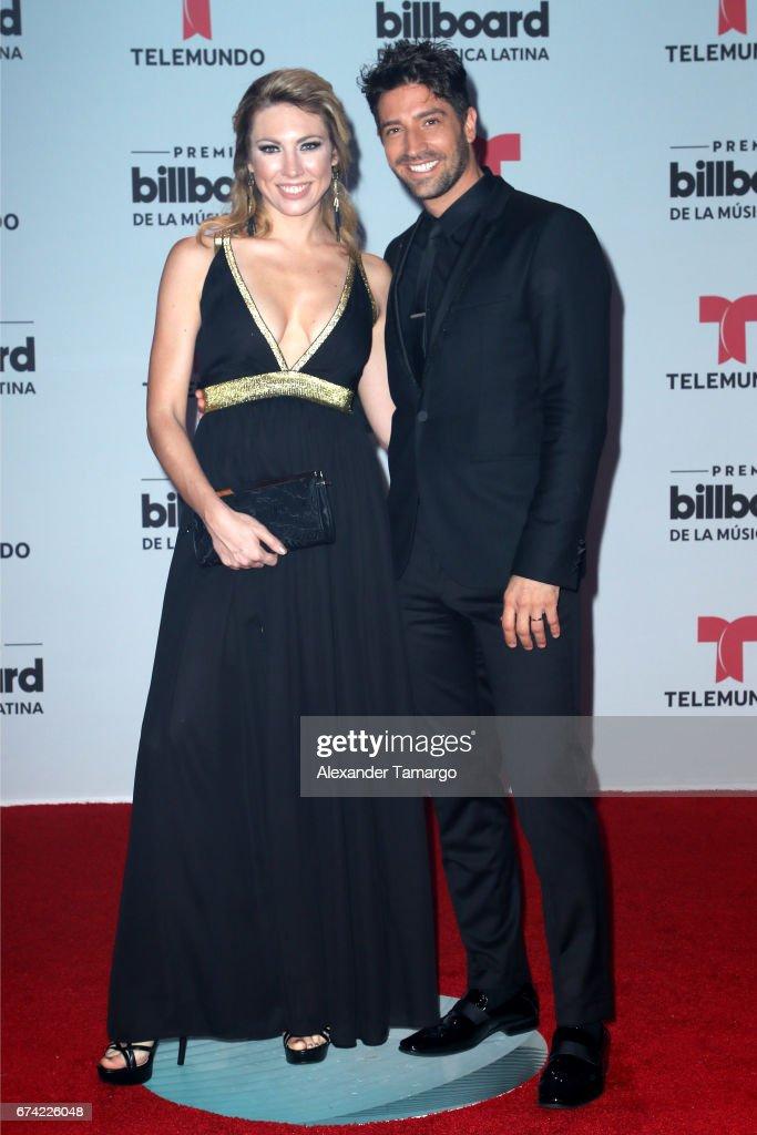 Caroline and David Chocarro attends the Billboard Latin Music Awards at Watsco Center on April 27, 2017 in Coral Gables, Florida.