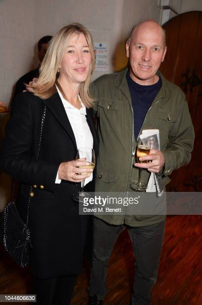 Caroline and Peregrine Armstrong Jones attend the Chris Levine 'Inner [Deep] Space' in benefit of Elton John AIDS Foundation private view hosted by...