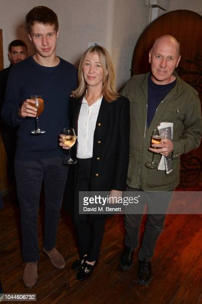 Caroline and Peregrine Armstrong Jones with son attend the Chris Levine 'Inner [Deep] Space' in benefit of Elton John AIDS Foundation private view...