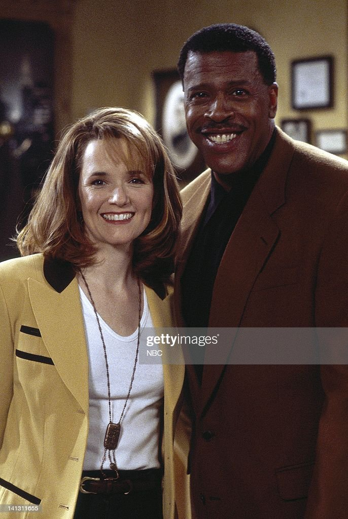 CITY -- 'Caroline and the Cereal' Episode 20 -- Aired 4/18/1996 -- Pictured: (l-r) Lea Thompson as Caroline Duffy, Meshach Taylor as Caroline's Agent -- Photo by: Alice S. Hall/NBCU Photo Bank